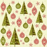 Seamless Christmas background. Christmas nad New Year seamless background with toys Stock Photo