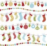 Seamless christmas background Stock Photos