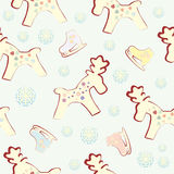 Seamless Christmas background. The background of the characters on the christmas theme Stock Photos