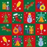 Seamless christmas background with Royalty Free Stock Photo