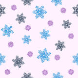 Seamless Christmas background.Blue snowflakes. Eps10 Vector illustration Royalty Free Stock Photography