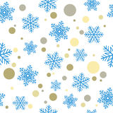 Seamless Christmas background.Blue snowflakes and multicolored circles eps10. Seamless Christmas background.Blue snowflakes and multicolored circles Stock Photo
