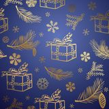 Seamless christmas background. Design element Royalty Free Stock Images