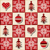 Seamless Christmas background in a patchwork style Royalty Free Stock Image