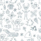 Seamless Christmas Background. Royalty Free Stock Images