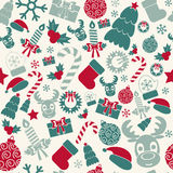 Seamless Christmas background. Retro colors. Vector Royalty Free Stock Photography