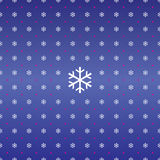 Seamless Christmas background of snowflakes Stock Photos
