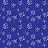 Seamless christmas background with snowflakes and snow Stock Photography