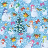 Seamless Christmas background. Vector Stock Photography