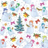 Seamless Christmas background. Vector Stock Image