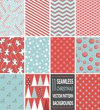 Seamless christmas vector pattern background stock illustration