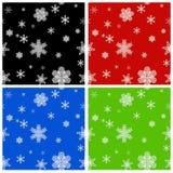 Seamless Christmas backgrounds. Set - seamless colored Christmas backgrounds Royalty Free Stock Photography
