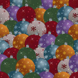 Seamless christmas baubles. Pattern with clipping mask vector illustration