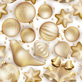 Seamless Christmas baubles. EPS 10 Royalty Free Stock Photos