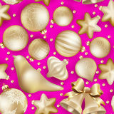 Seamless Christmas baubles. EPS 10 Royalty Free Stock Image