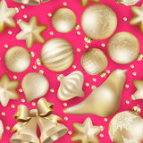 Seamless Christmas baubles. EPS 10 Royalty Free Stock Images
