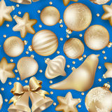 Seamless Christmas baubles. EPS 10 Stock Photography