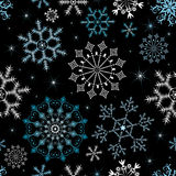 Seamless christmas black pattern (vector) Stock Photos