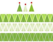 Seamless christmas border Stock Image