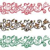 Seamless Christmas  border Stock Images