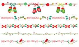 Seamless Christmas Borders Vector Stock Photography