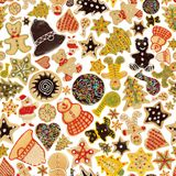 Seamless Christmas cookie background Royalty Free Stock Images