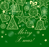 Seamless christmas decoration Royalty Free Stock Images