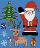 Seamless christmas elements set. Seamless cute christmas elements set Stock Illustration