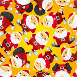 Seamless Christmas funny cartoon Royalty Free Stock Photography