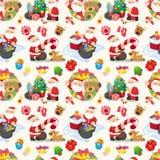 Seamless Christmas funny cartoon Stock Image