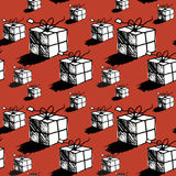 Seamless christmas gift box pattern Stock Images