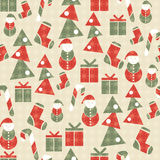 Seamless Christmas grunge pattern Stock Images