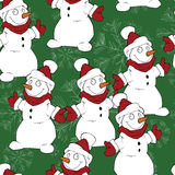 Seamless Christmas hand drawn pattern Royalty Free Stock Photography