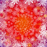Seamless Christmas Holidays Background/ Illustration of a seamless wallpaper background of white winter snowflakes for christmas a Stock Photo