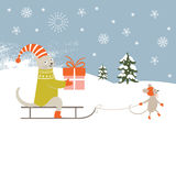 Seamless Christmas illustration, Stock Photo