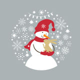 Seamless Christmas illustration Stock Photo