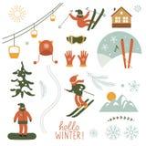 Seamless Christmas illustration Royalty Free Stock Photos