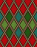 Seamless Christmas Knitted Pattern Royalty Free Stock Photography