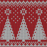 Seamless Christmas  knitted pattern Stock Photo