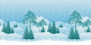 Seamless Christmas Landscape Stock Photo