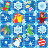 Seamless Christmas or New Year background Royalty Free Stock Photography