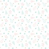 Seamless Christmas and New Year background pattern digital paper. Seamless Christmas and New Year background pattern, digital paper royalty free illustration