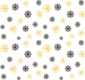 Seamless Christmas and New Year pattern.Vector abstract background with golden, black snowflakes. Seamless Christmas and New Year pattern.Vector abstract Stock Photography