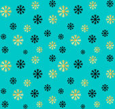 Seamless Christmas and New Year pattern.Vector abstract background with golden, black snowflakes. Seamless Christmas and New Year pattern.Vector abstract Royalty Free Stock Photography