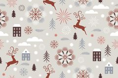 Seamless Christmas and new year`s pattern stock photos