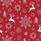 Seamless Christmas and new year`s pattern stock photo