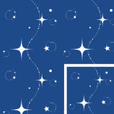 Seamless Christmas night background. Seamless Christmas, star background, white stars on a blue background royalty free illustration