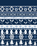 Seamless christmas ornament pattern Royalty Free Stock Image