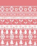 Seamless christmas ornament pattern Stock Photo