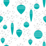 Seamless Christmas ornaments pattern. Vector Stock Photography